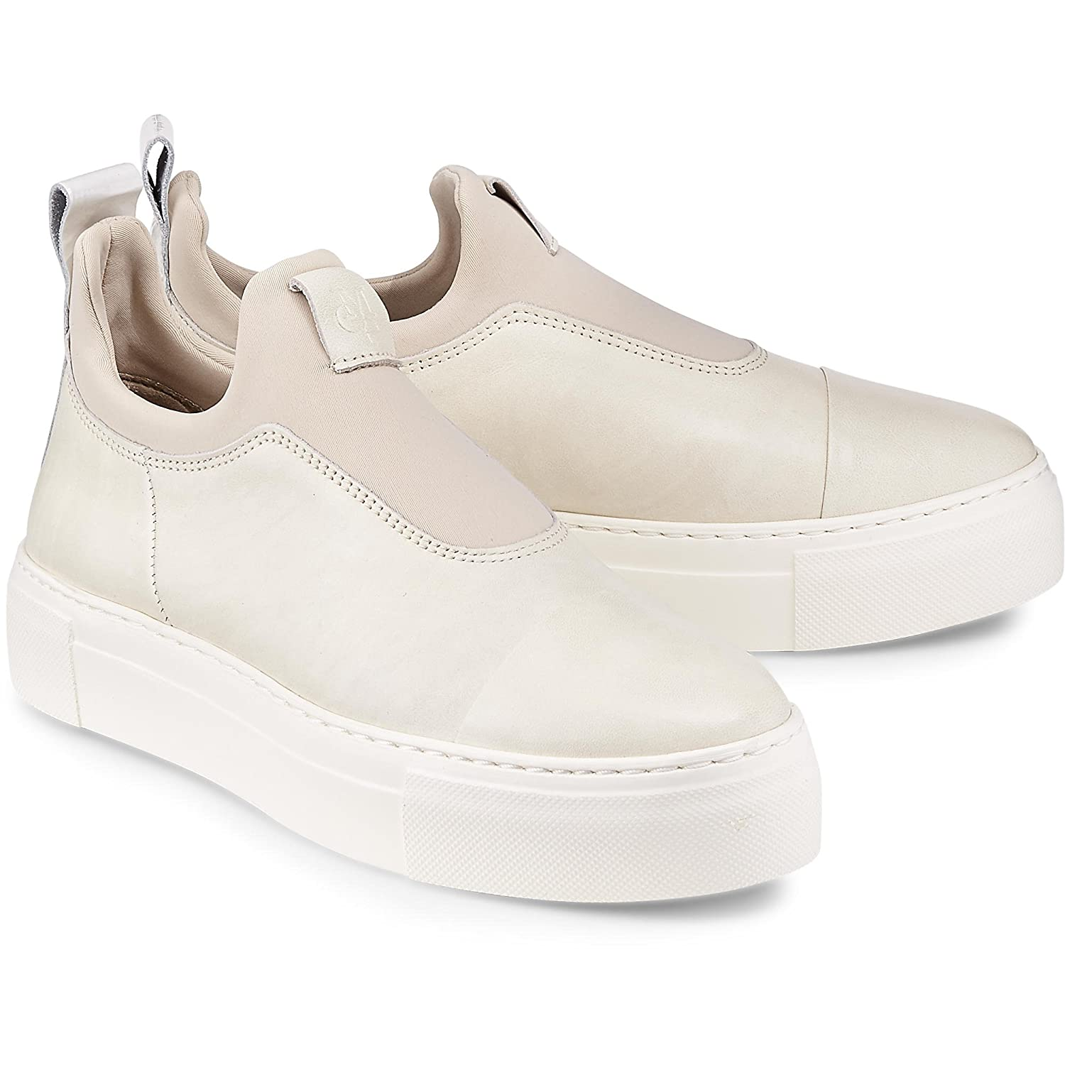 Damen Fashion-Sneaker Beige Glattleder 40 Marc O'Polo