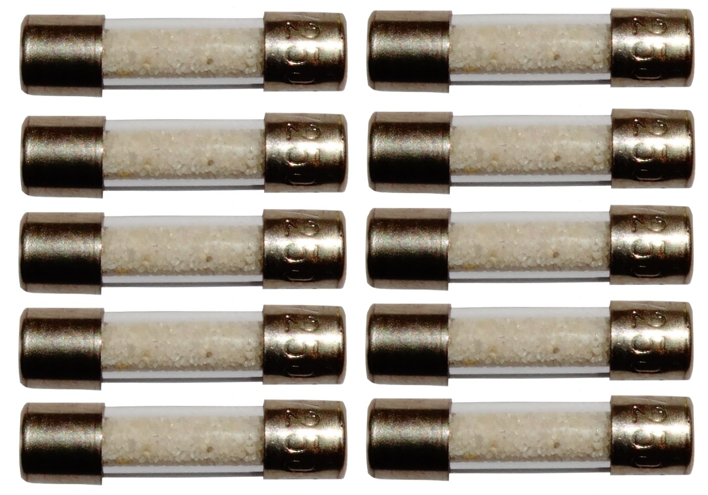 Aerzetix Lot de 10 fusibles semi-lents semi-retard/és semi-temporis/és en verre 2cm 20mm 5mm 5x20mm 220V 250V 3.15A