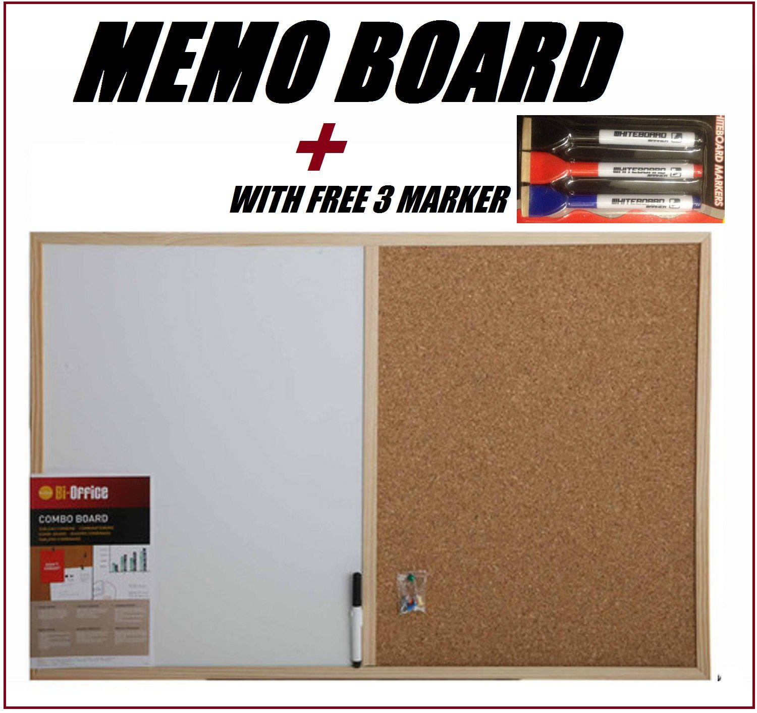 office whiteboard ideas. MAGNETIC CORK BOARD WHITE MEMO FOR KITCHEN OFFICE NOTICE WITH SET OF THREE MARKERS PEN 60 X 40cm: Amazon.co.uk: Office Products Whiteboard Ideas I