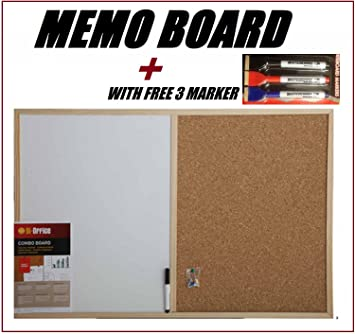 Magnetic Cork Board White Board Memo For Kitchen Office Notice Board With Set Of Three White