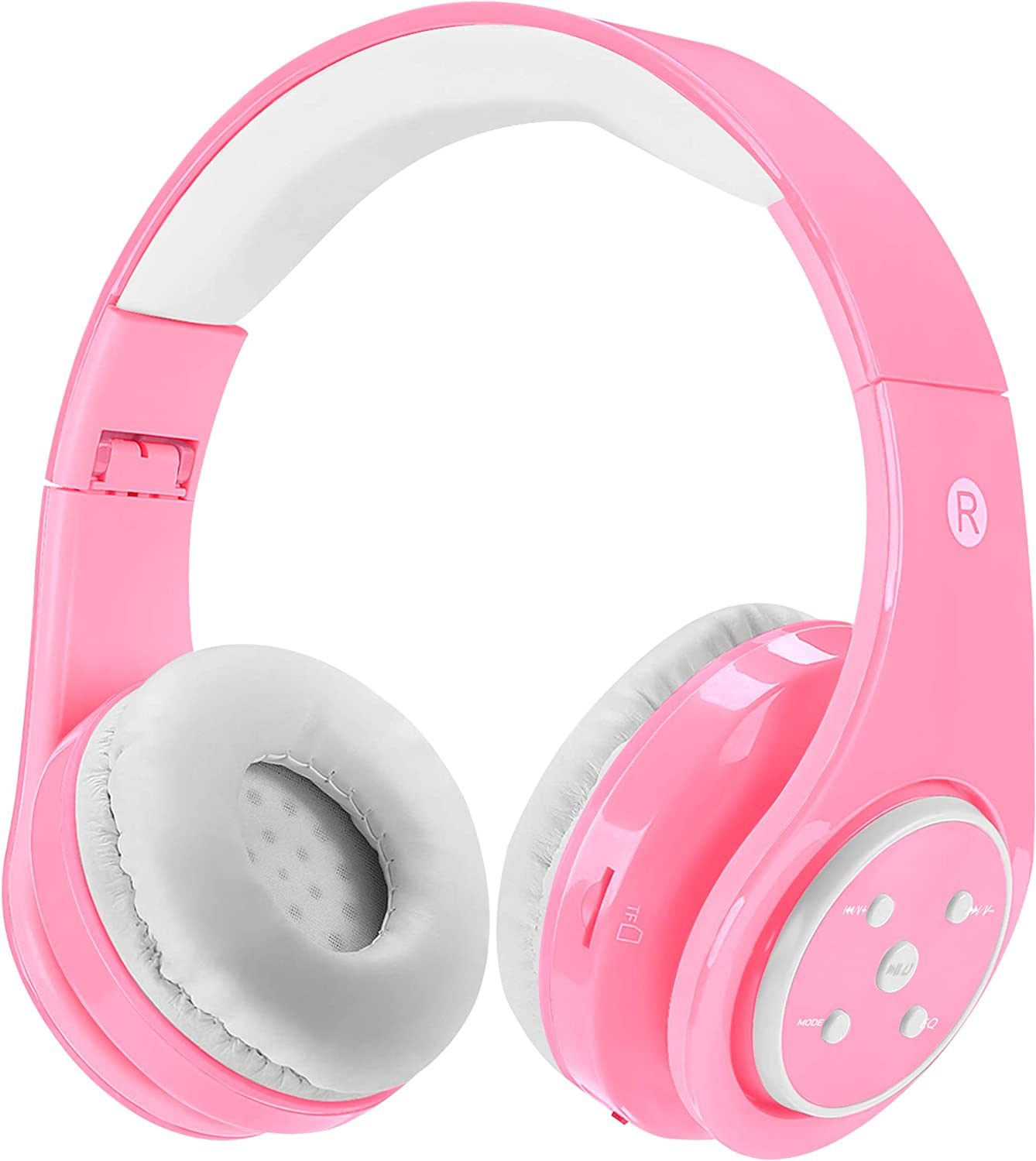 Yusonic Volume Limited Kids Bluetooth Headphones with Music share Port and Built-in Microphone E2 pink Kids Wireless Headphones