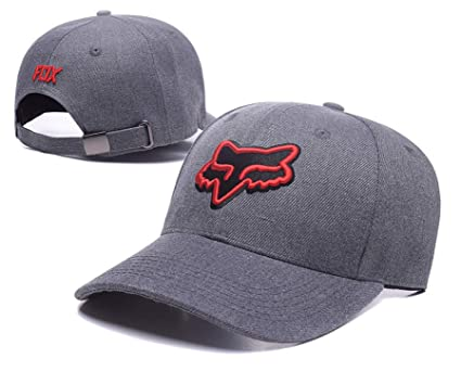 2de45db96304b Image Unavailable. Image not available for. Color  Fashion Fox Baseball Cap  Women Men Motor Sports Snapback Hat Cartoon Pattern Embroidery Caps Hip Hop