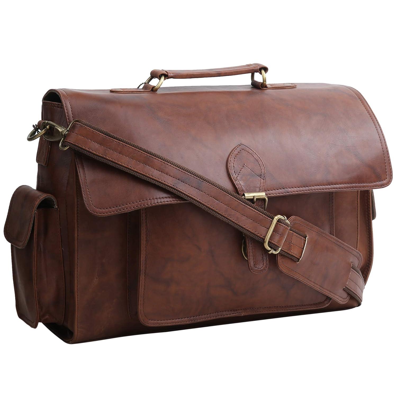 Genuine Leather Messenger Office Use Laptop Briefcase Bag Handmade Bag Unsiex
