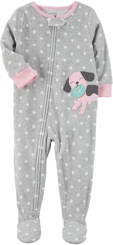 0bf56266bd Amazon.com  Carter s Baby Girls  12M-24M One Piece Dog Fleece Pajamas   Clothing