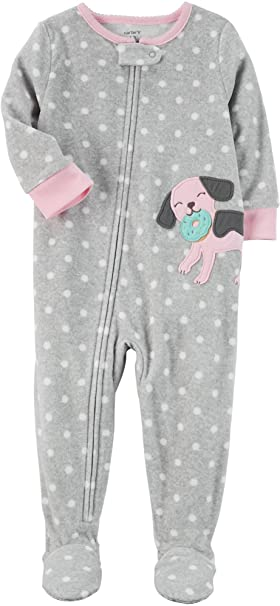 7e85ed2c8f8ae Carter's Baby Girls' 12M-24M One Piece Dog Fleece Pajamas 24 Months