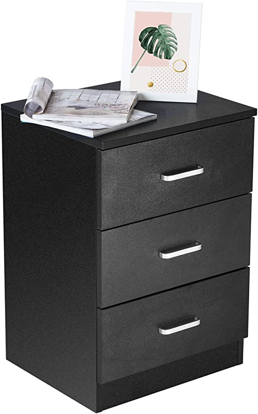 Nightstand Bedroom Bedside Table Storage Furniture Night Stand Cabinet,w//Drawers