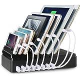 Maxnic 8ポートUSB充電ステーション  スマートフォンとタブレットなどUSB急速充電器[68W / 2.4A Max]、最大8台の端末収納 多功能充電スタンド