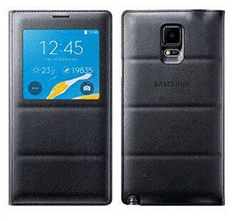 innovative design 16925 4bcb2 Samsung Note 4 Case,Open Window Case Samsung Galaxy Note 4 Touch Quick View  Case Flip Leather Cover Case 5.7