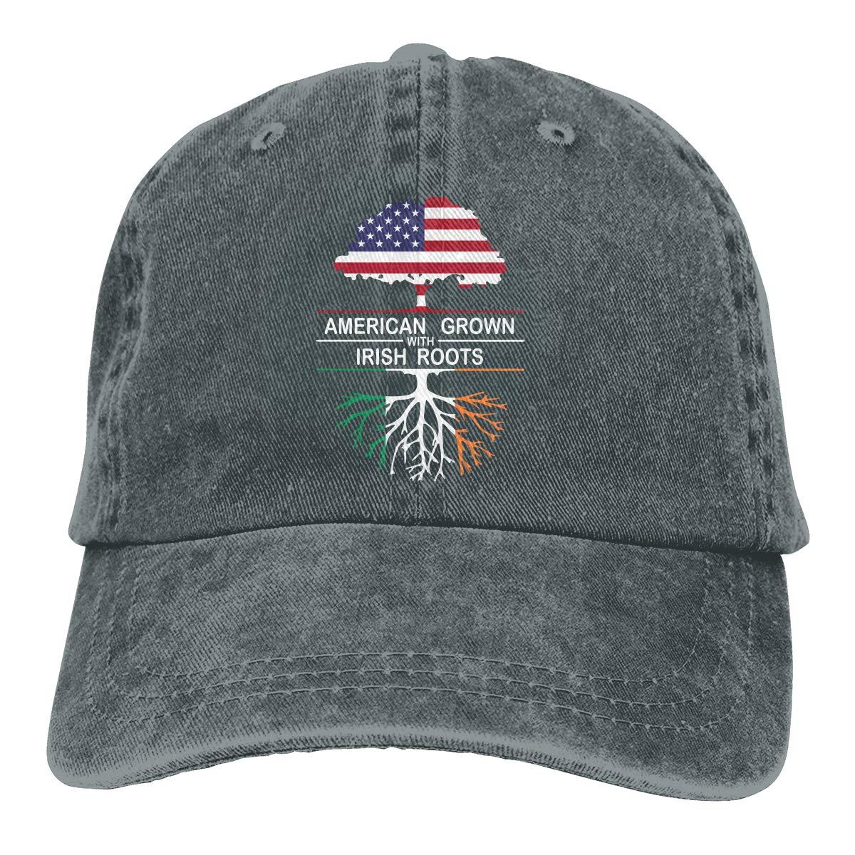 American Grown with Irish Roots-1 Adult Custom Cowboy Sun Hat Adjustable Baseball Cap