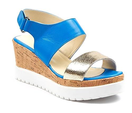 5fad2d6e793 BOBERCK Colección Verónica Sandalia de Tacón Plataforma de Cuero para  Mujer  Amazon.es  Zapatos y complementos