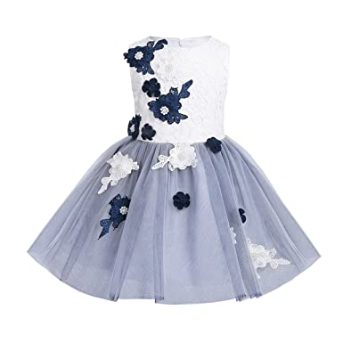 iixpin iixpin Blumenmädchen Kleid Kinder Mädchen Kleid Festlich ...