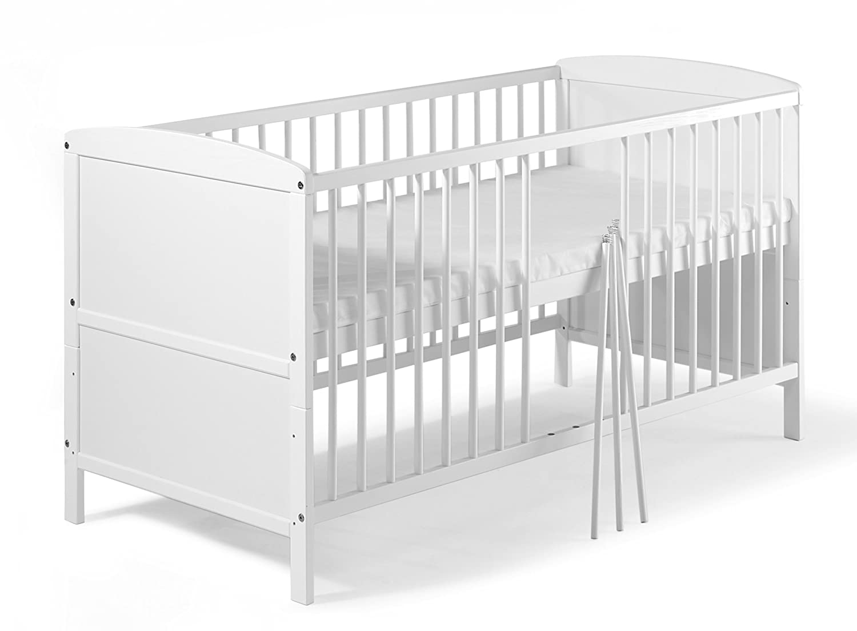 Kinderbett weiß  Schardt 040761902 Kombi-Kinderbett Conny 70 x 140 cm, weiß ...