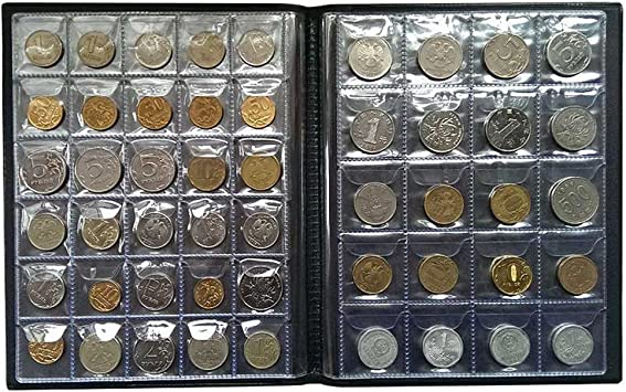 VORCOOL Album Monedas Coleccion 250 Bolsillos (Negro): Amazon.es: Hogar