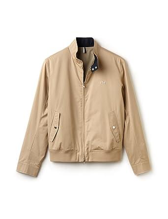 a94d699526 Lacoste BH6255 Beige Harrington Jacket 48: Amazon.co.uk: Clothing