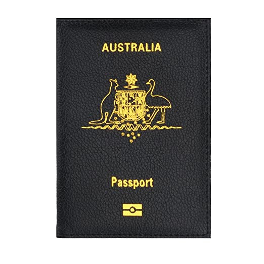 Amazon australia passport cover hosamtel unisex embossed australia passport cover hosamtel unisex embossed leather travel wallet id card passport holder protector bag business colourmoves