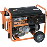 Generac 5736, 5500 Running Watts/6875 Starting Watts, Gas Powered Portable Generator (Discontinued by Manufacturer)