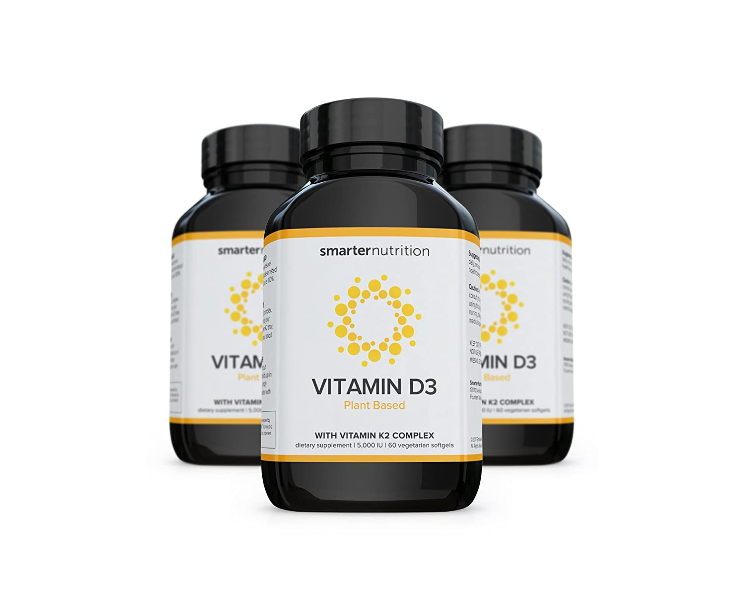 Amazon.com: Smarter Nutrition Plant-Based Vitamin D3 with K2 Complex for Healthy Bones and Arteries, Vegetarian Softgels (6 Month Supply): Health & Personal ...