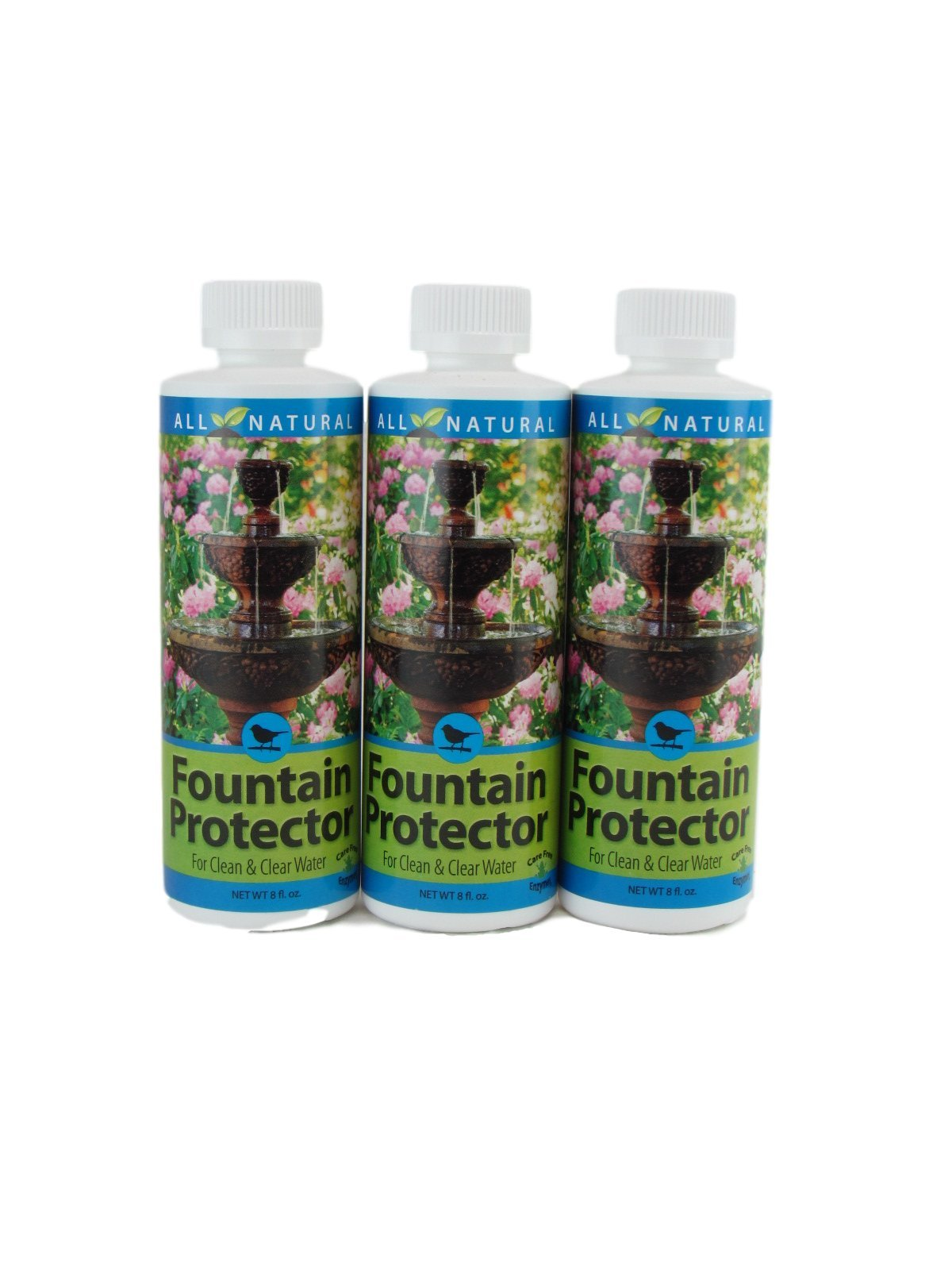 3 Pack 8 Oz Care Free Enzymes Fountain Protector Made in USA 95999D