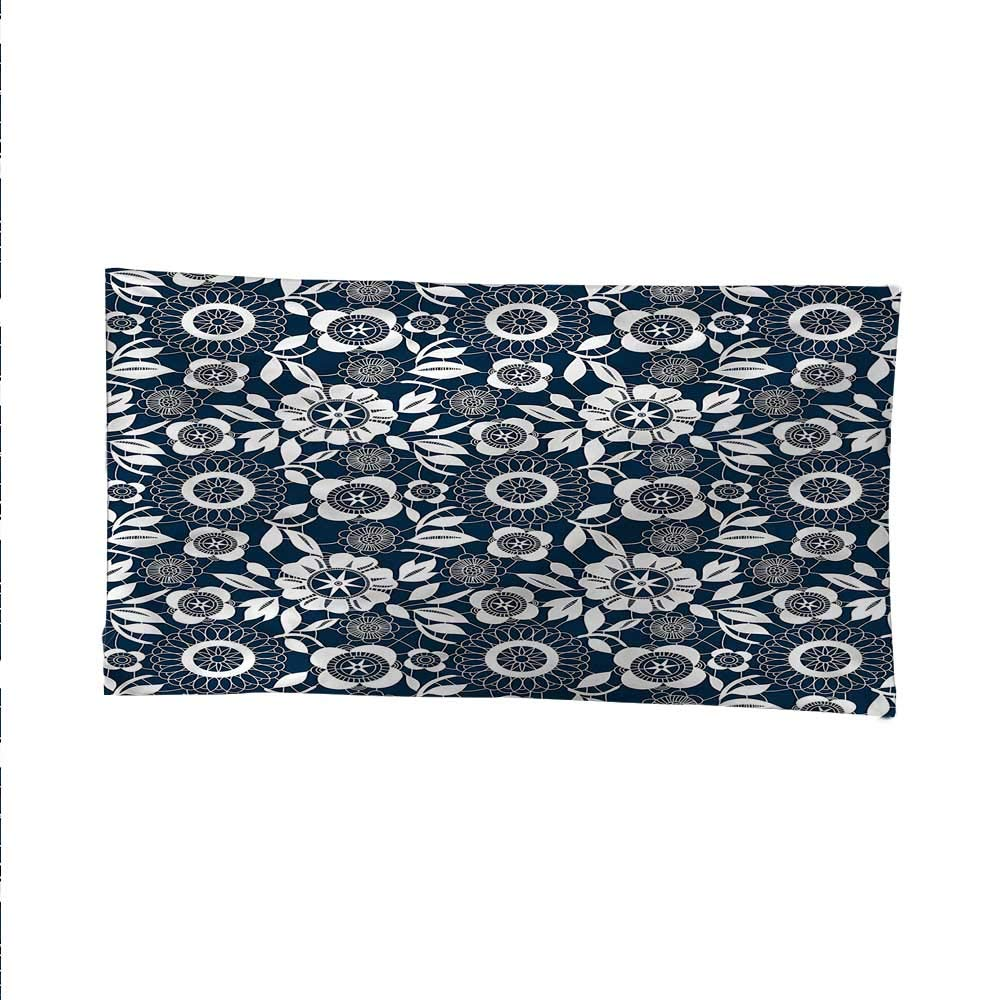 Navy Bluefunny tapestryquote tapestryOrnamental Crochet Petals 84W x 54L Inch