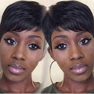 ATOZWIG Female Wig Short Straight Black Wigs for Black Women Short Black Wig Heat Resistant New