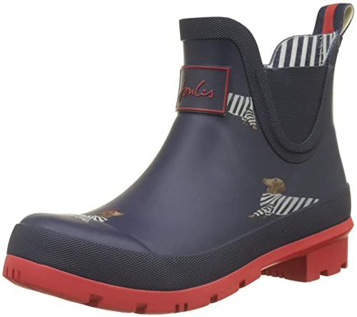Joules Wellibob, Botas de Agua para Mujer, Blue (French Navy Dachshund),