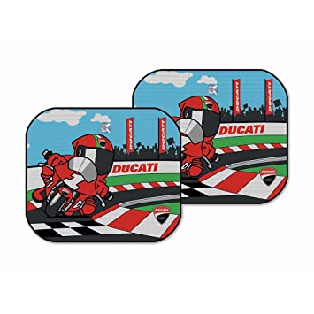 Amazon Com Ducati Corse Motorcycle Cartoon Window Sunshade For Car