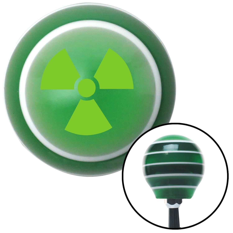 American Shifter 126526 Green Stripe Shift Knob with M16 x 1.5 Insert Green Nuclear Hazard Symbol