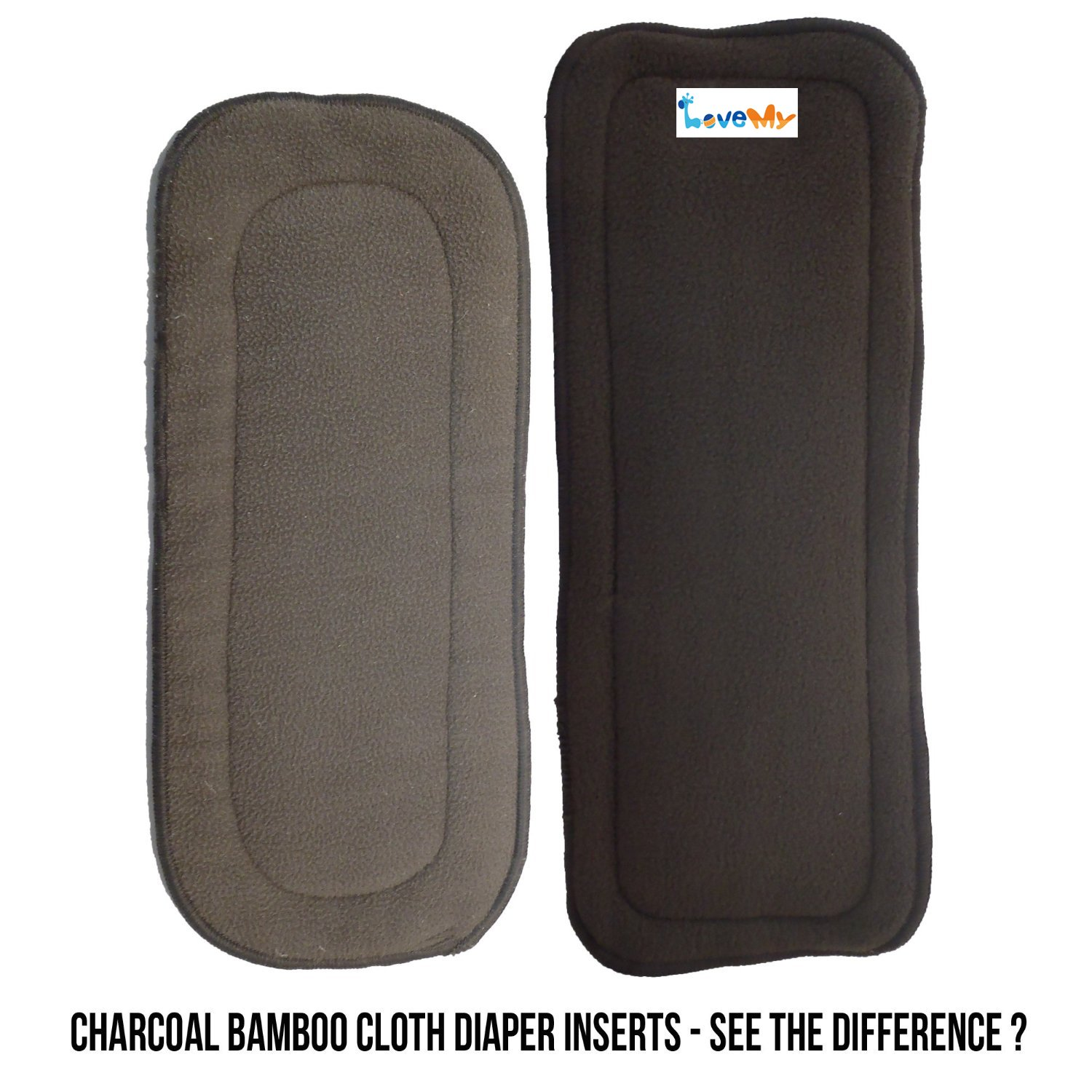 love my Baby 5 Layer Charcoal Bamboo Inserts Reusable Liners for Cloth Diapers Inserts 6 pieces
