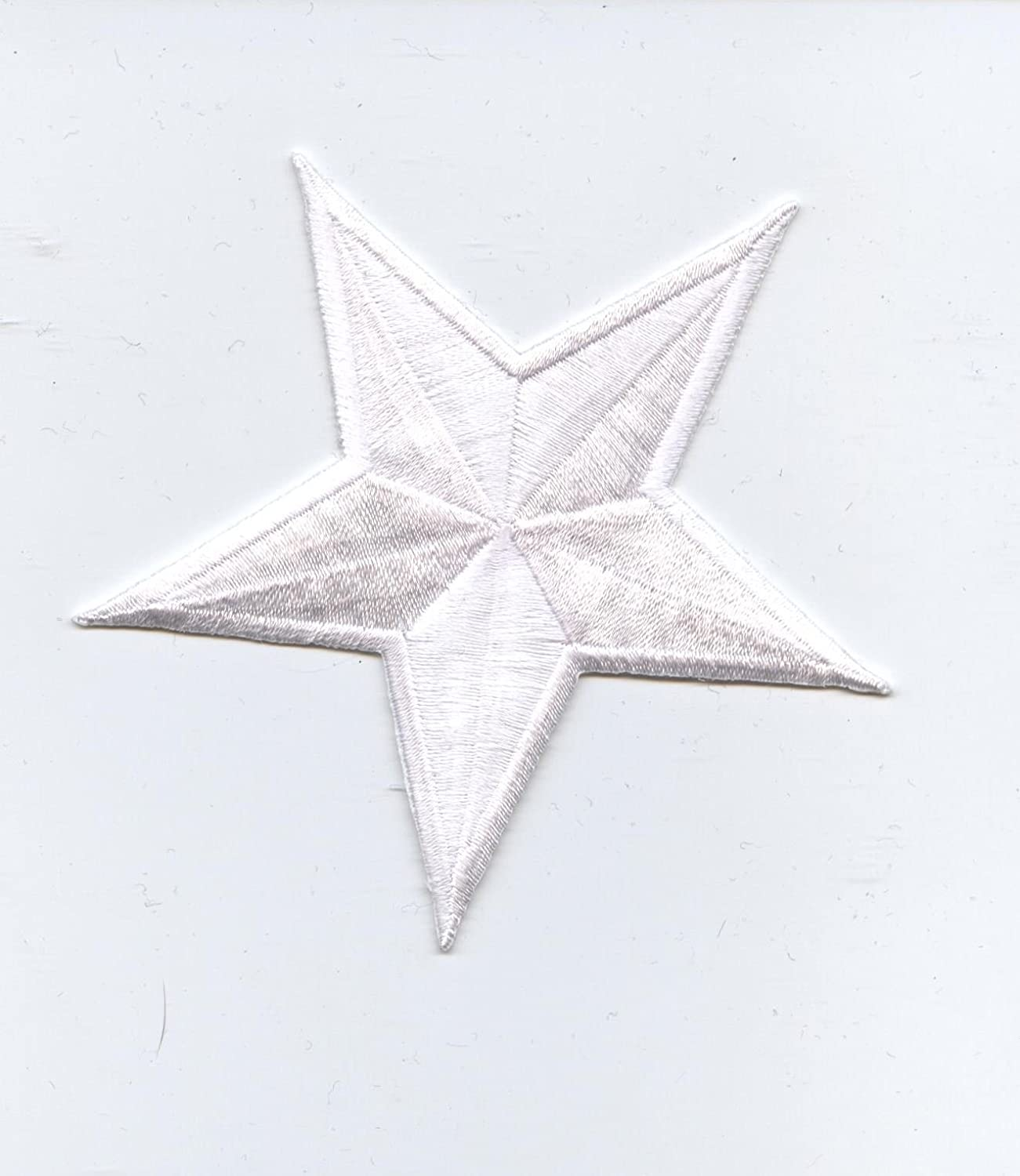 Embroidery Applique Patch Sew Iron Badge Sew On Fur White Star