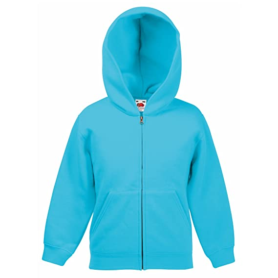 27db35466 Fruit of the Loom Childrens Kids Unisex Hooded Sweatshirt Jacket (5 ...