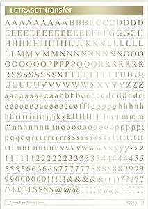 Letraset Plantilla De Números Transfer Letras A5 Lámina