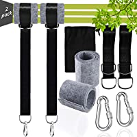 Tree Swing Hanging Kit, Tree Swing Straps Adjustable Sets, (Set of 2) Max 2200LB Swing Hangers Toddler Swings for…