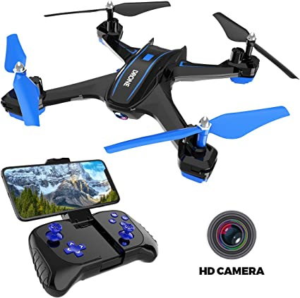 REMOKING RC Drone with 3P FPV Wi-Fi HD Camera Live Video Racing Quadcopter Headless Mode 3°flip 3 Channels Altitude Hold Indoor and Outdoor Sport ...