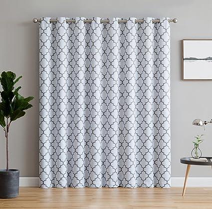 ME Lattice Print Thermal Grommet Blackout Patio Door Window Curtain For  Sliding Glass Door