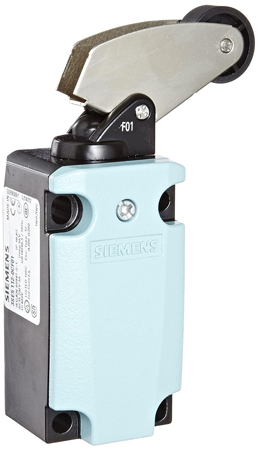 40mm Metal Enclosure 1 NC Contacts Siemens 3SE5 112-0CF01 International Limit Switch Complete Unit 22mm Plastic Roller Angular Roller Lever Metal Lever Snap Action Contacts 1 NO
