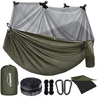 Overmont Dubbla lager campinghängmatta tysk TUV-certifierad bärbar utomhushängmatta lätt för backpacking vandring sport…