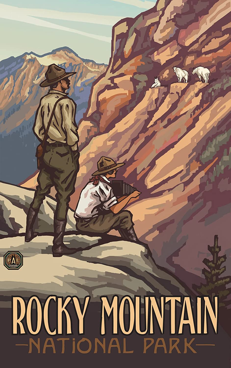 Lanquist Northwest Art Mall Rocky Mountain National Park Park Rangers PRG Wall Art by Paul A 11-Inch by 17-Inch