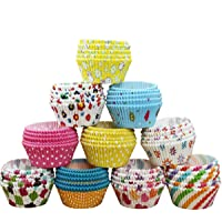 100Pcs Paper Cake Cup Cupcake Cases Liners Muffin Kitchen Baking Wedding Party Multi Color