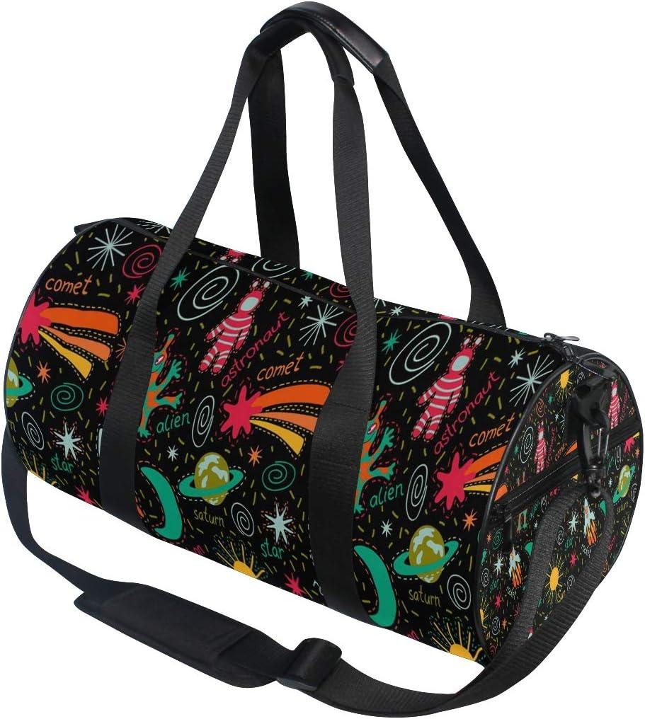 Duffel Bag Funny Space Women Garment Gym Tote Bag Best Sports Bag for Boys