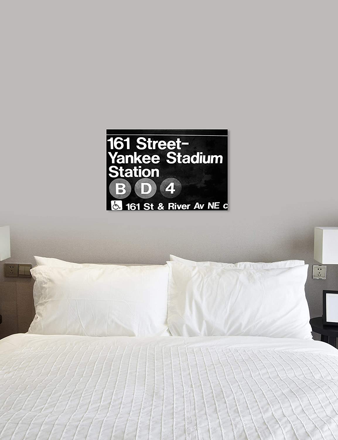 Cities and Skylines Wall Art Canvas Prints Yankee Stadium Home D/écor Black White 30 x 20 The Oliver Gal Artist Co