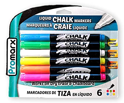 Amazon.com : Promarx Vivid Neon Fluorescent Liquid Chalk ...