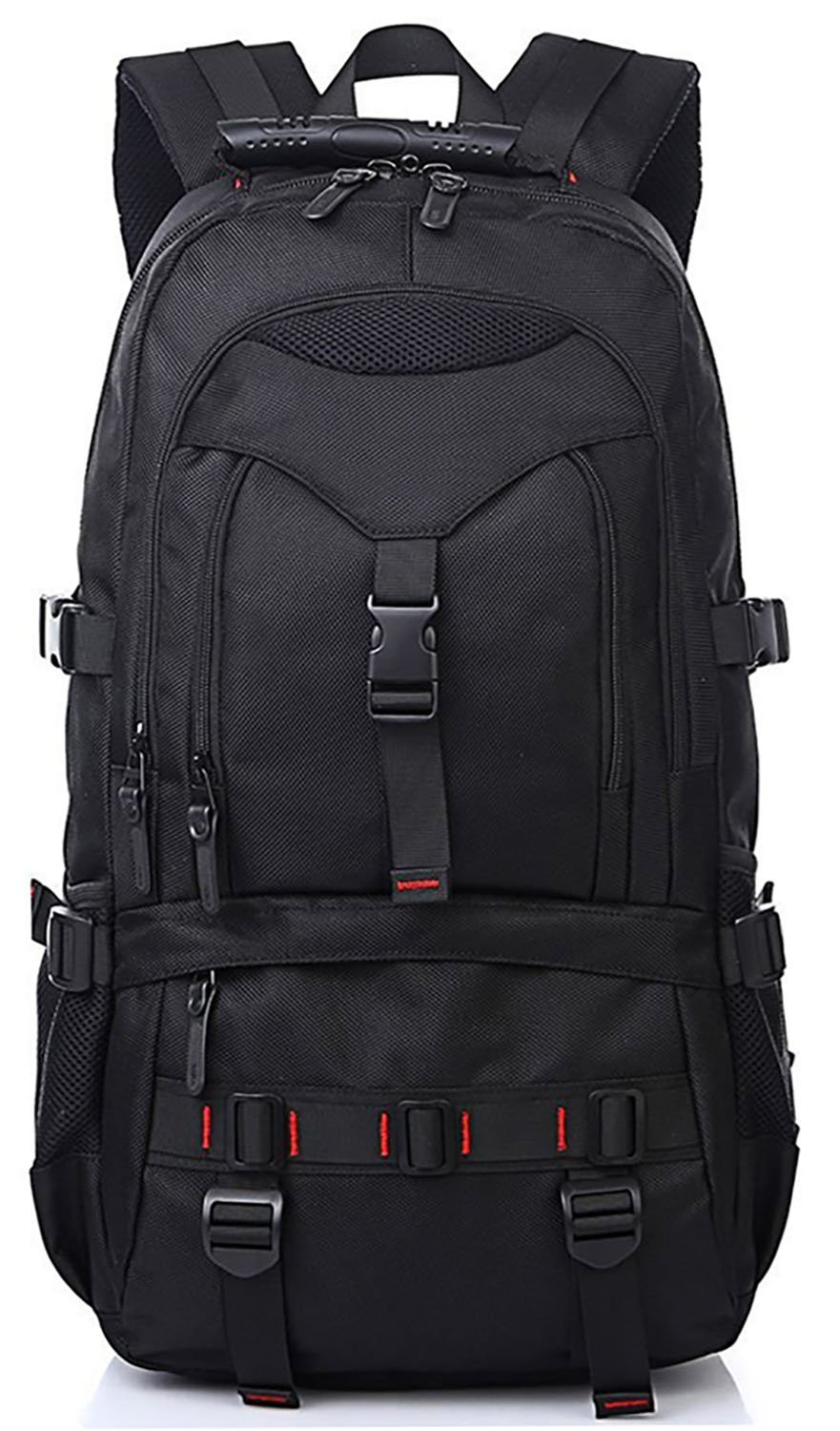 KAKA Large Laptop Backpack, Anti Theft Water Resistant Travel Backpack for Women & Men Fits 17 Inch Laptop and Notebook, Black Daypack for Outdoor Camping KAKA_2020 02