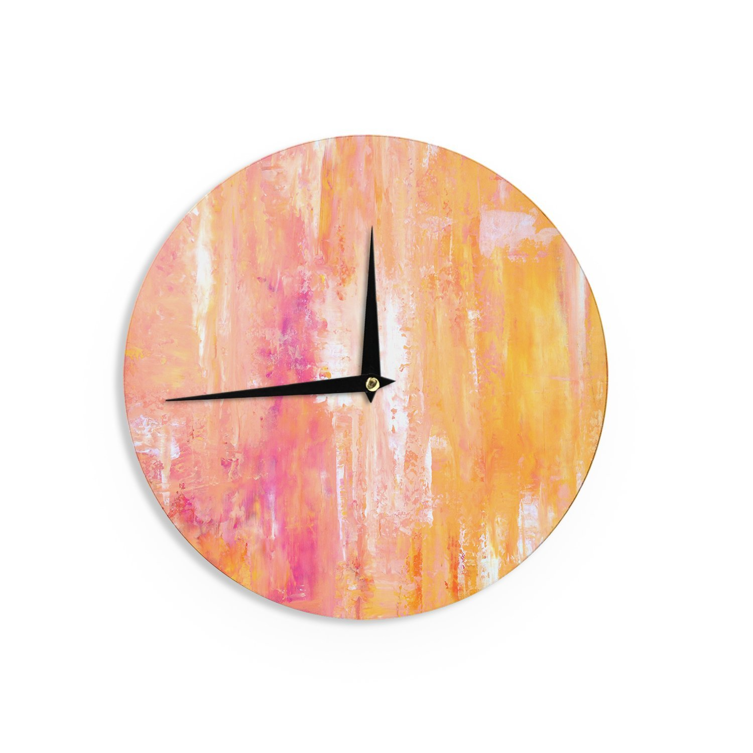 Kess InHouse CarolLynn TICE Girls Night Out Yellow Wall Clock 12 Diameter