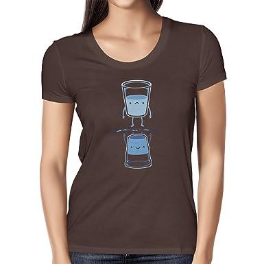 Texlab Half Full, Half Empty - Damen T-Shirt, Größe S, Braun