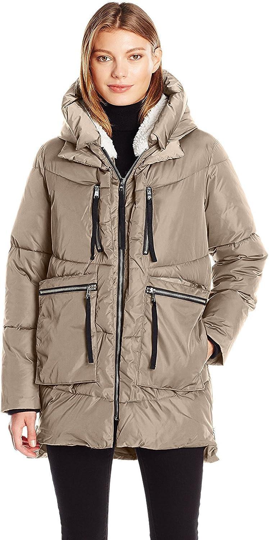 Steve Madden Womens Puffer Parka Jacket