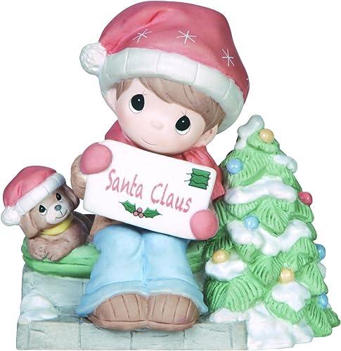Precious Moments Company Boy Waiting for Santa Figurine, 141016