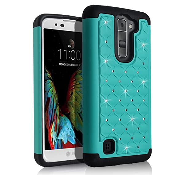 new arrival 3427d cd624 LG K7 Case, LG Tribute 5 Case (Metro PCS), Luckiefind® Hard Cover Case,  Stylus Pen, Screen Protector & Wiper Accessory (Hard Teal)