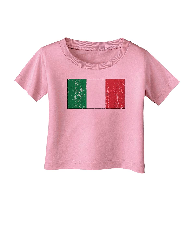 TooLoud Italian Flag Distressed Infant T-Shirt