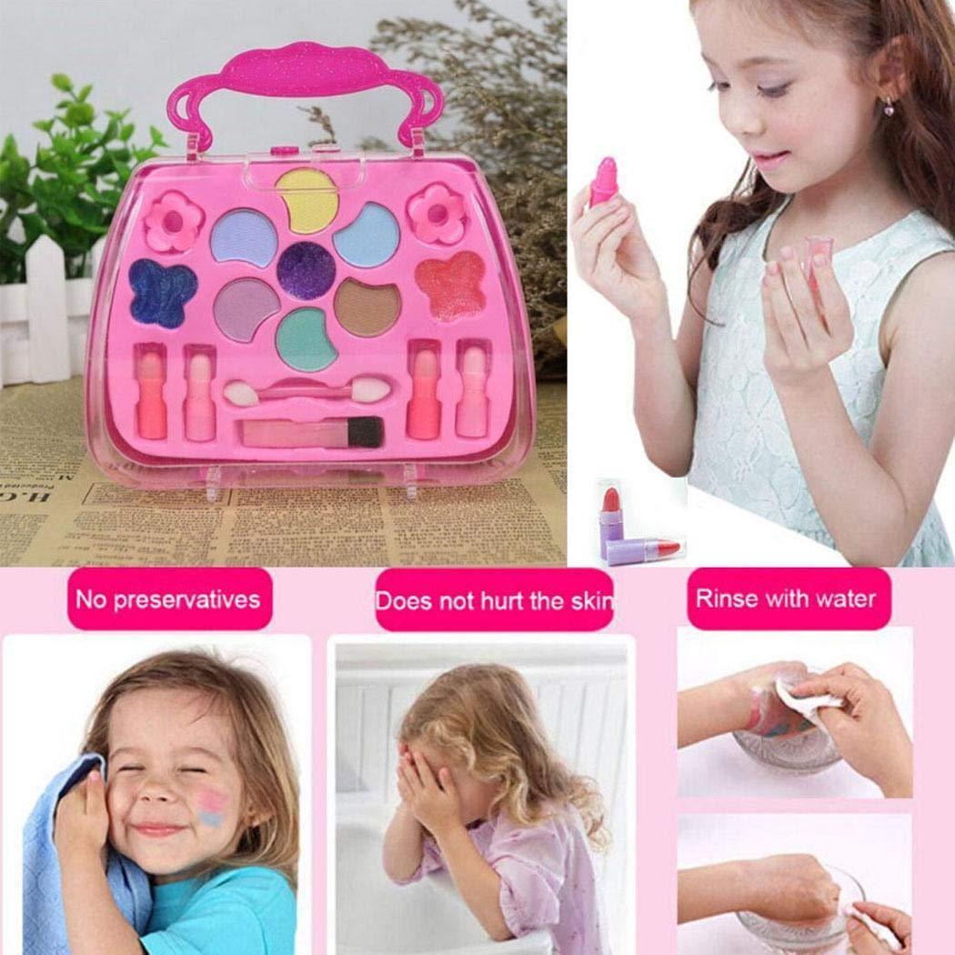 Erholi Girls Make-Up Box Princess Traveling Cosmetic Pretend Play Toy Set for Kids Gift Makeup by erholi (Image #3)