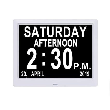 Calendario Giorno.Jaihonda Display Ip Calendario Digitale Orologio Giorno